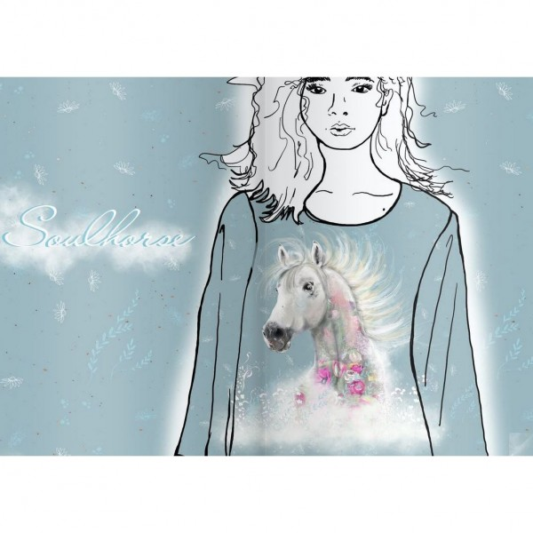 """BIO-Jersey Panel """"Soulhorse"""" by Tante Gisi"""