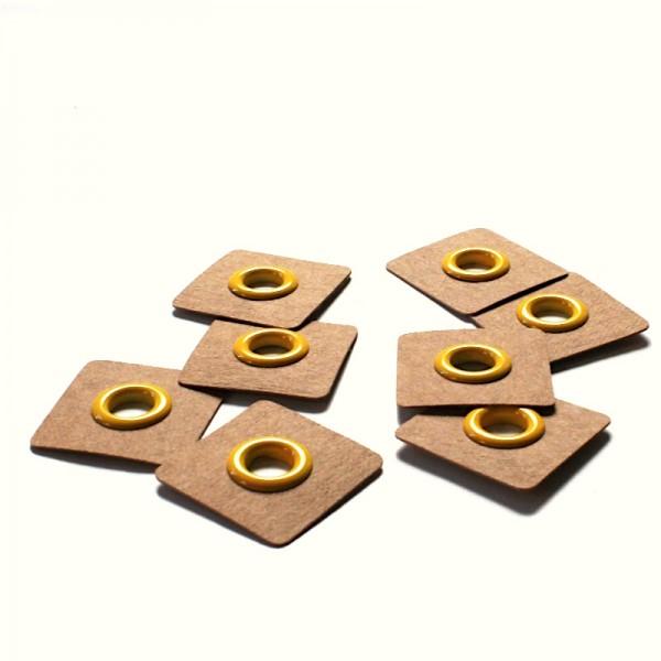 4 Snøreringe til påsyning gul Ø 8mm