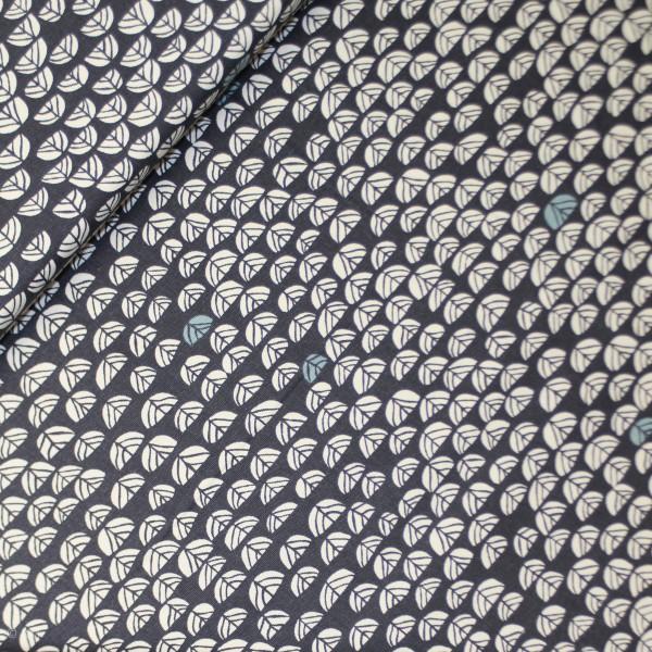 """BIO-Canvas """"Hidden Garden blå"""" fra Birch Fabrics"""