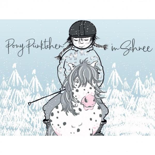 "BIO-French Terry ""Pony Pünktchen im Schnee"" by Tante Gisi"