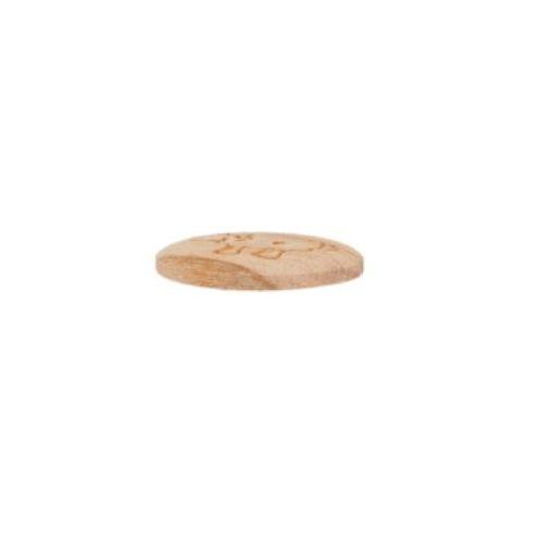 """2-hul-træ-knap """"Får"""" (15 mm)"""