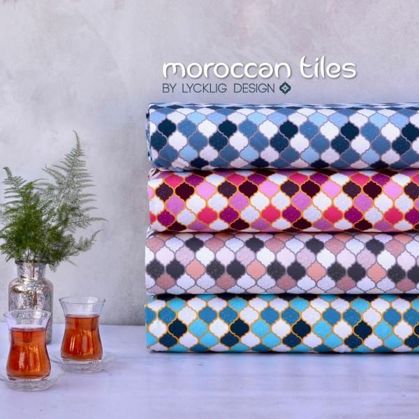 """Bomuldsjersey kollektion """"Moroccan Tiles"""" by..."""