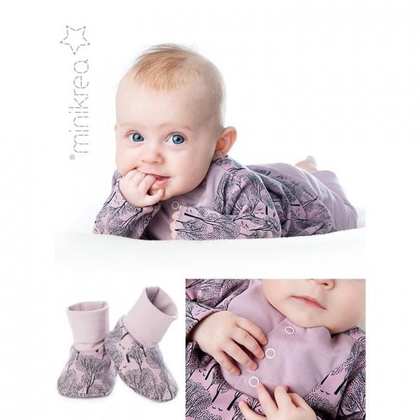 "Snitmønster minikrea 11420 ""Babysæt med sko"" str 0 - 2 Y (50 - 92 cm)"
