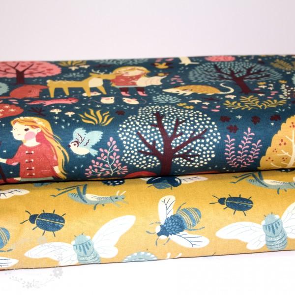 "BIO-Canvas ""Acron Trail"" fra Birch Fabrics"