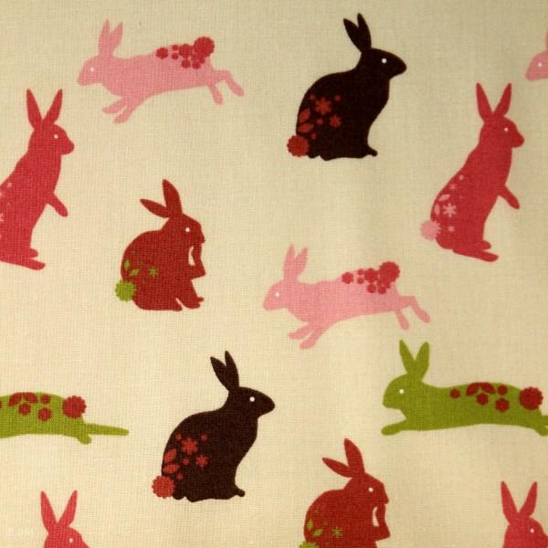 """Bomuld """"Linz"""" med kaniner"""