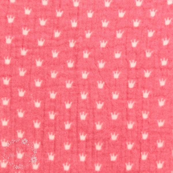 Double Gauze med krone pink