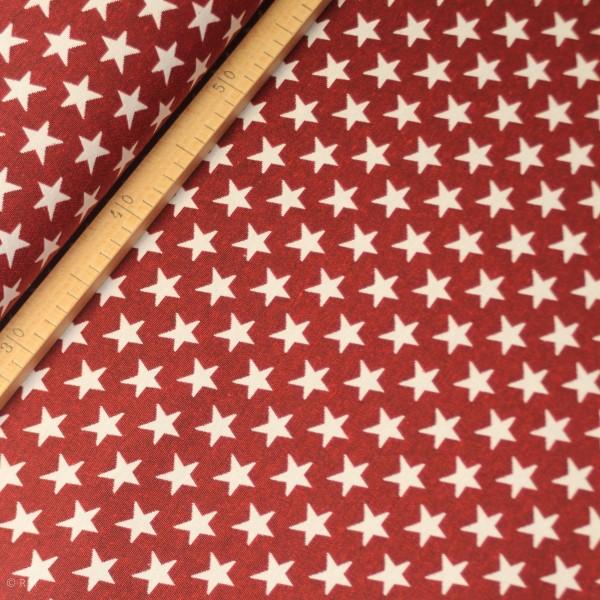 """Dekostof """"Stjerne mellem"""" rød"""