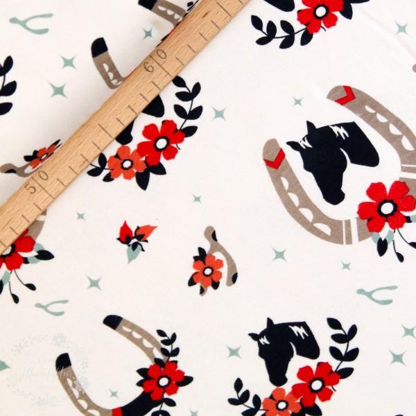 "BIO-Interlock-Bomuldsjersey ""Tall Tales"" fra Birch Fabrics"