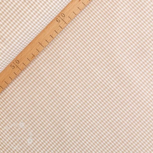 Bomuld ternet sand/hvid