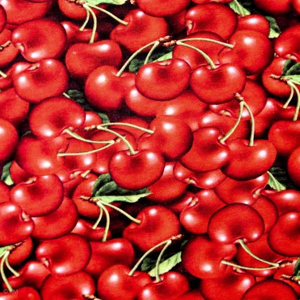 "Bomuldsjersey ""kirsebær"""