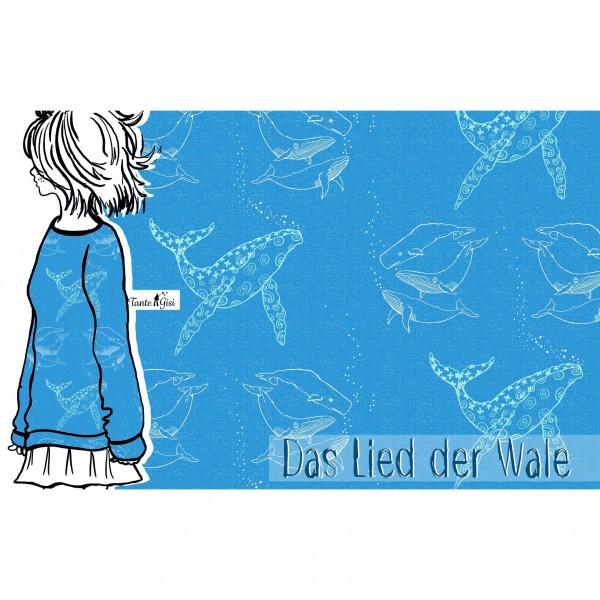 "BIO-Bomuldsjersey ""Das Lied der Wale"""