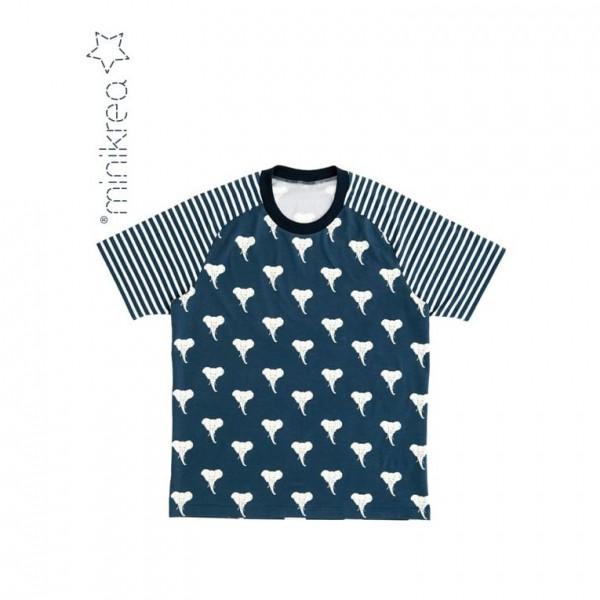 "Snitmønster minikrea 66220 ""Raglan T-Shirt"" str 2 - 16 Y & XS - XXL (Boys and Men)"