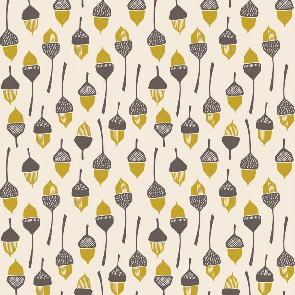 "Bomuld ""In the woods - Acorn Yellow"" by Loes..."