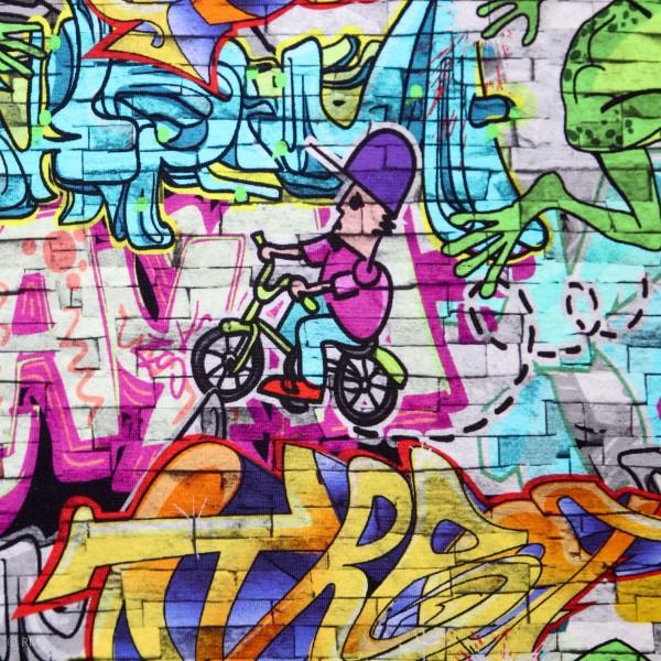 """Bomuldsjersey """"Graffiti"""""""