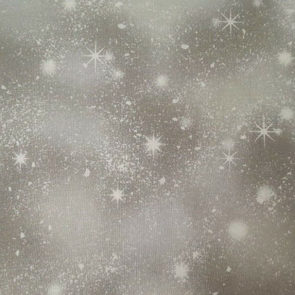 """Bomuld """"Woodland Friends- Snow Flakes Gray"""" by..."""