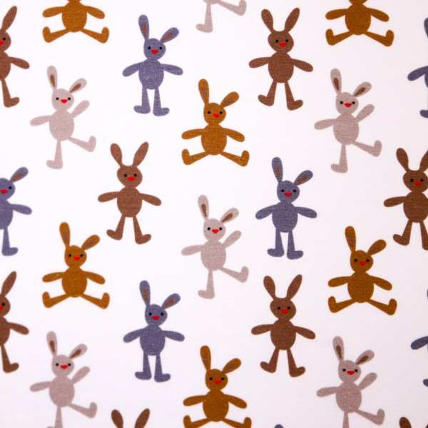 """Bomuldsjersey """"Om foråret 1"""" - hare"""
