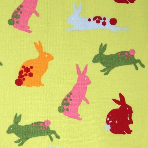 """Bomuld """"Wales"""" med kaniner"""