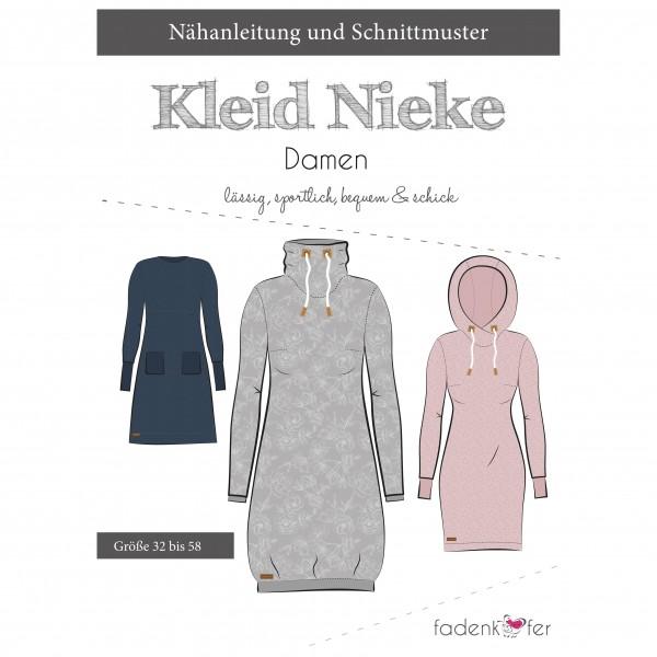 """Snitmønster Kjole eller Long-Hoodie """"Nieke""""..."""