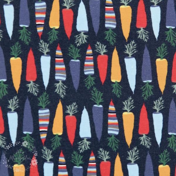 """Bomuldsjersey """"Autumn Carrot"""" by Lila-Lotta, mørkeblå"""
