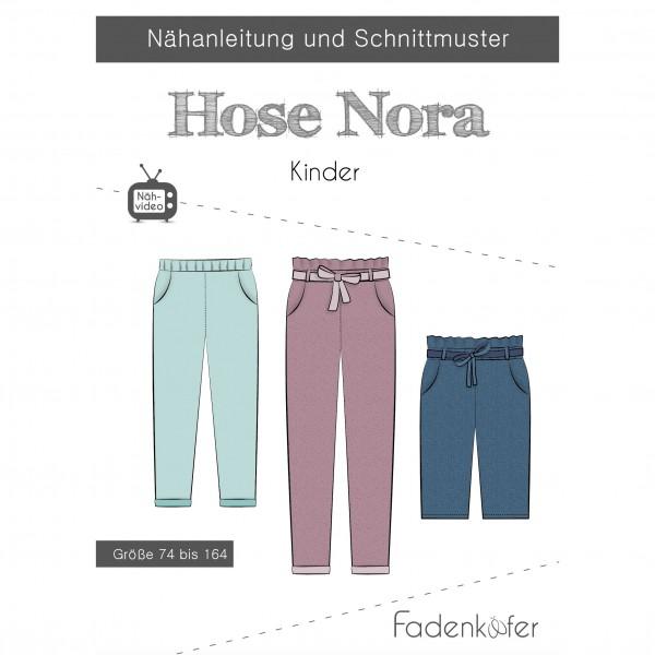 """Snitmønster Kids-Bukser """"Nora"""" str 74 - 164"""