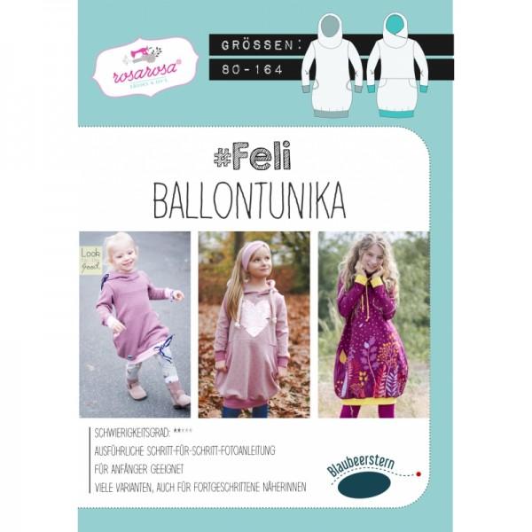 """Snitmønster Kids-Ballon-Hoodie """"Feli"""" str 80 - 164"""