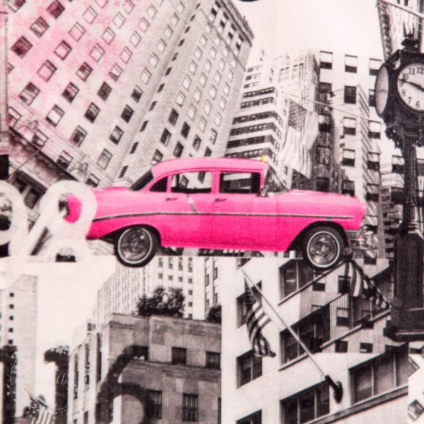 "Bomuldsjersey ""Pink cadillac"""