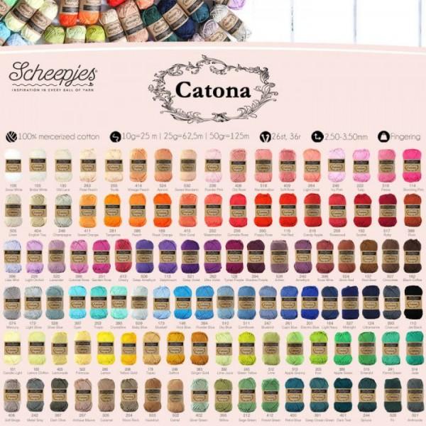 "Scheepjes ""Catona Colour Pack"" 109 x 10g"