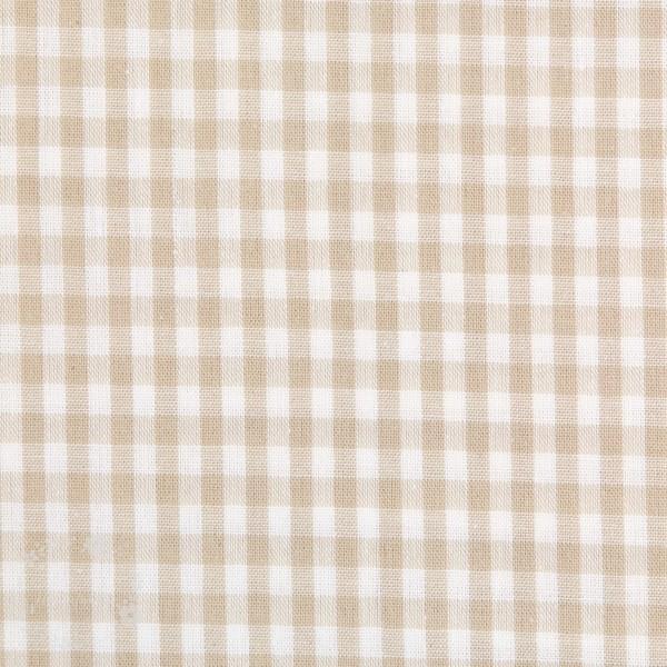 Bomuld ternet lysebrun/hvid