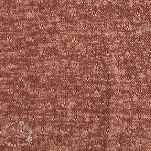 Strik med lurex guldbrun