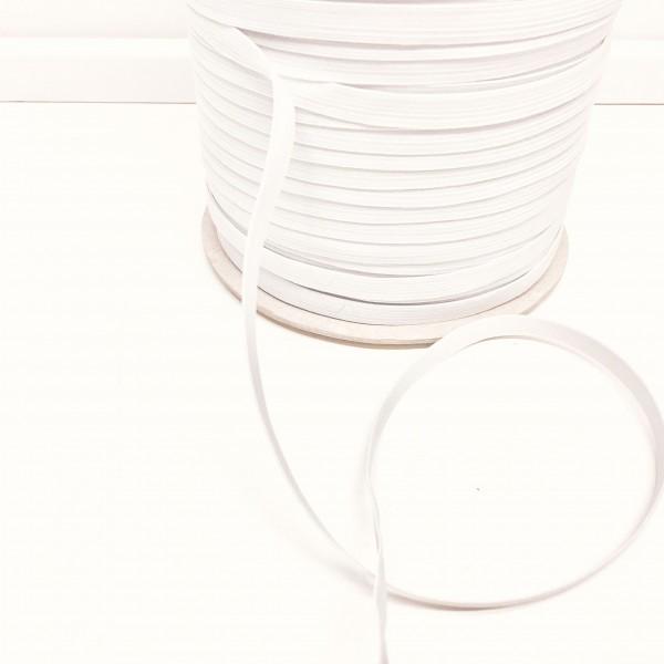 8mm Elastikånd hvid