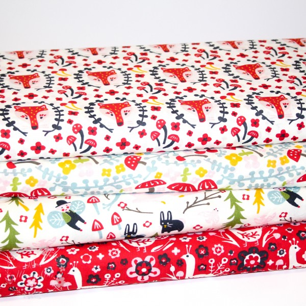 "BIO-Bomuld ""Folkland"" kb-01-cre fra Birch Fabrics"
