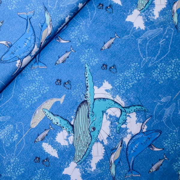 "BIO-Bomuldsjersey ""Deep Ocean"" by Tante Gisi"