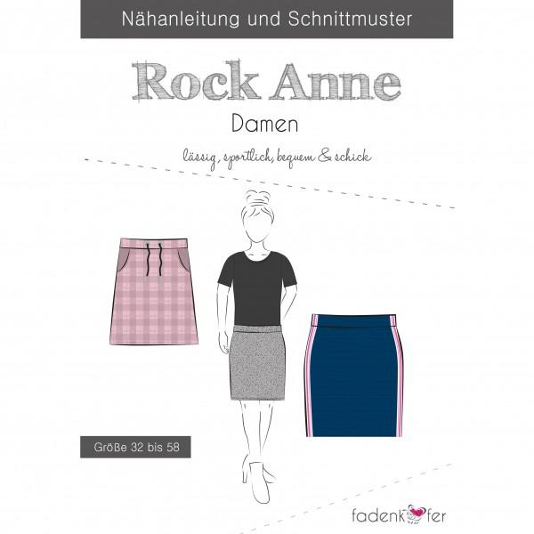 """Snitmønster nederdel """"Anne"""" Dame str 32 - 58"""