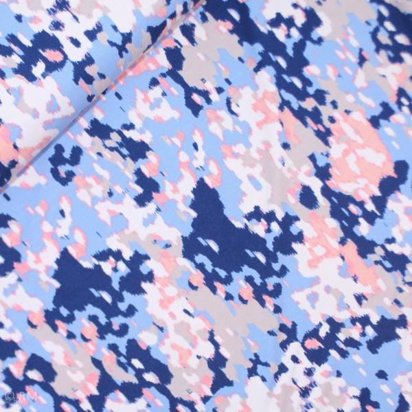 """Viscose """"Selina"""" Camouflage beige-blå"""