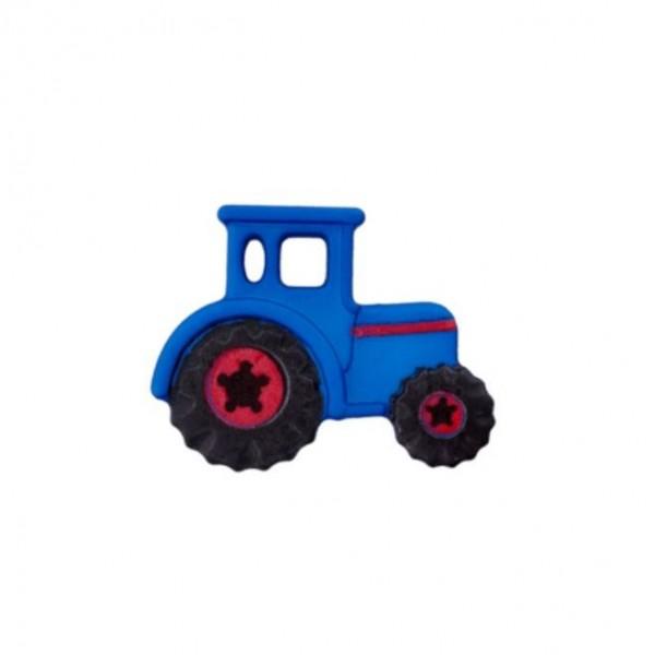 23 mm Øsken-Knap Traktor blå