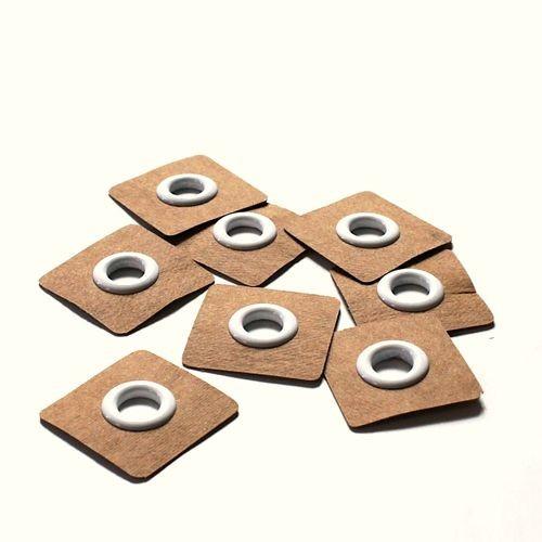 4 Snøreringe til påsyning hvid Ø 8mm