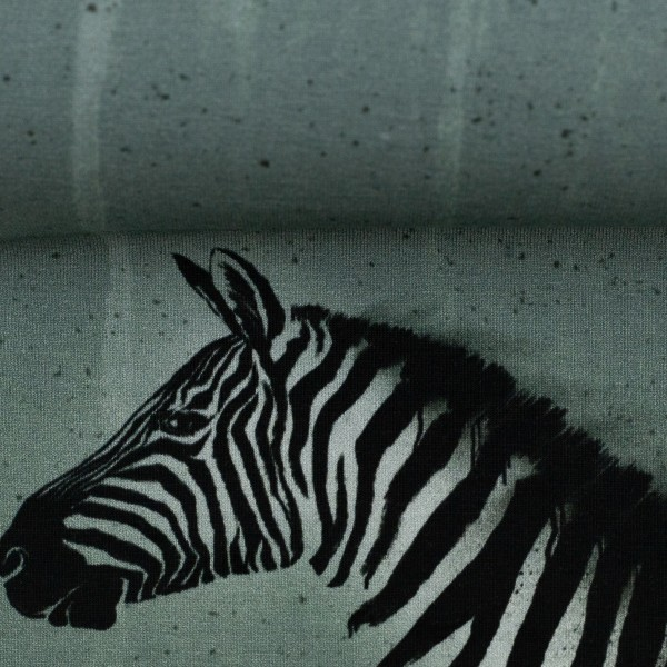 "65 cm Bomuldsjersey-Panel ""Wild Zebra"" by Thorsten Berger"