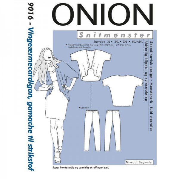 "Snitmønster Onion 9016 ""Vingeærmecardigan,..."