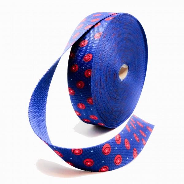 Gjordbånd blå med rød dots
