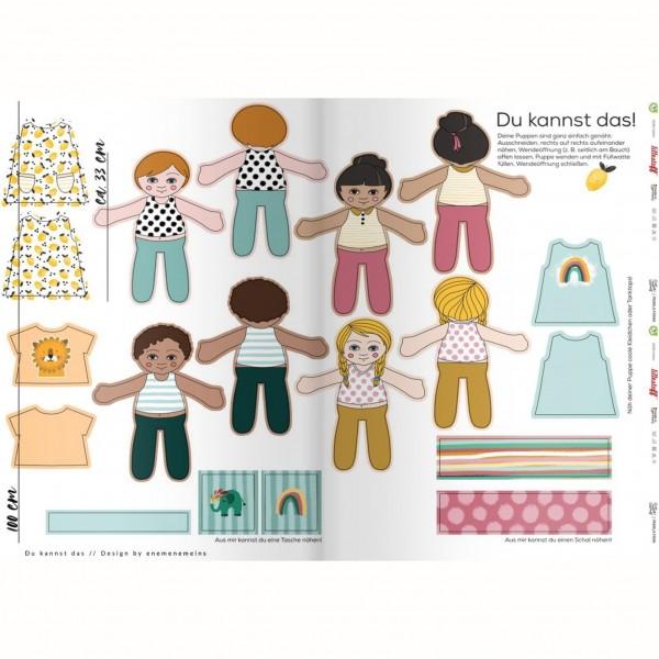 """100 cm Bomulds-Panel """"Du kannst das"""" Dukke"""