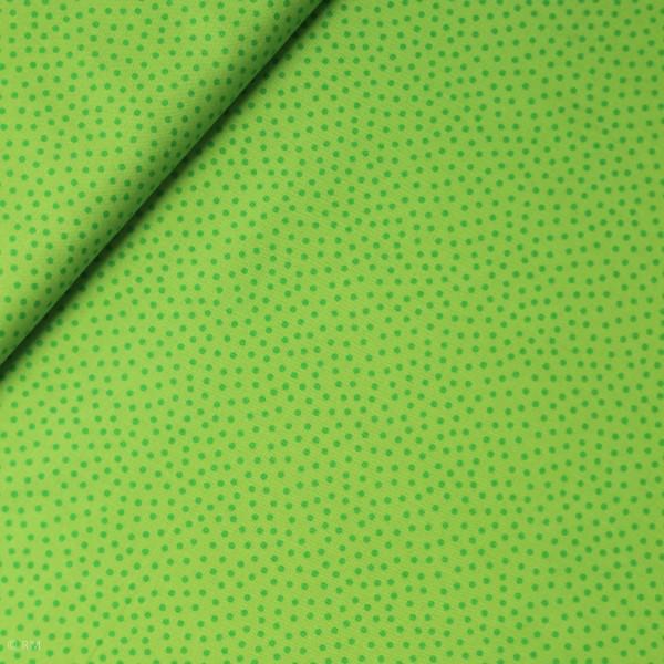 """Bomuld """"Junge Linie"""" grøn med prikker"""