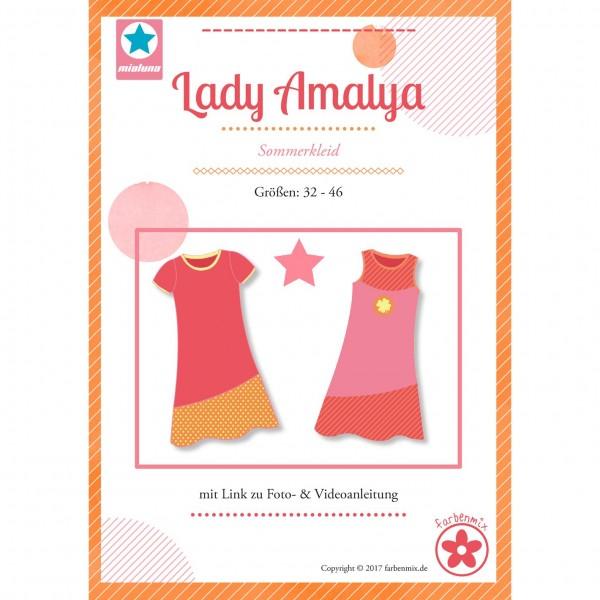 """Snitmønster Milauna Kjole """"Lady Amalya"""" str 32 - 46"""