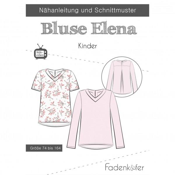 "Snitmønster Kids-Bluse ""Elena"" str 74 - 164"