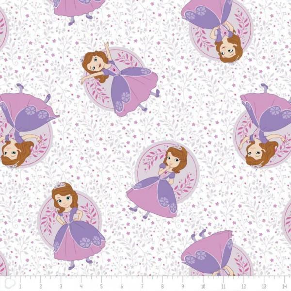 """Disney-Bomuld """"Sofia the First - Meadow"""" fra Camelot Fabrics"""