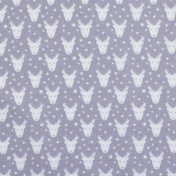 """Bomuld """"Nordpol"""" hjort 2 grå"""