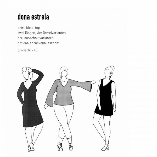 """Snitmønster Dame-Shirt/Kjole """"Dona Estrela"""" str..."""