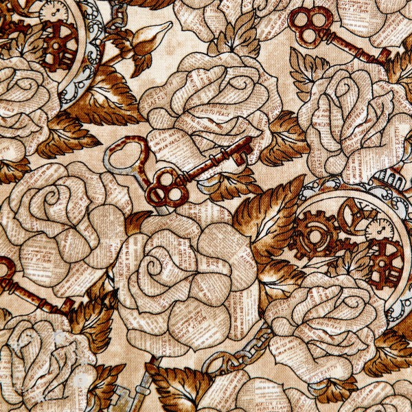 """Bomuld """"Unknown Voyage - Roses Fawn"""" by Tana Mueller"""