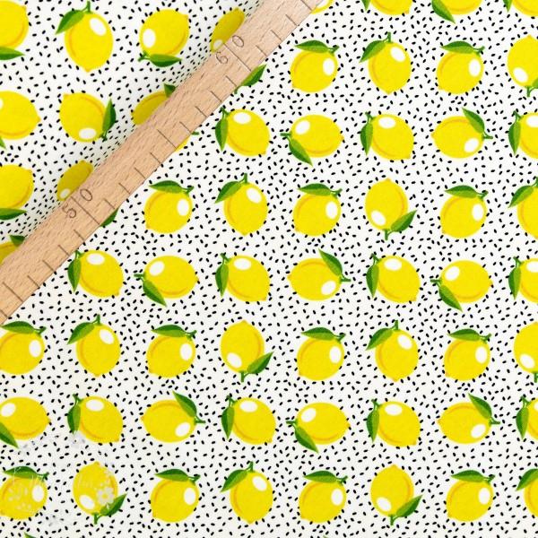 """Bomuldsjersey """"Citron"""" fra Fräulein von Julie"""