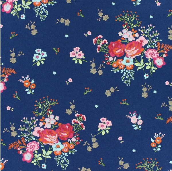 "Bomuldsjersey ""Fields of Flowers"" by POPPY"