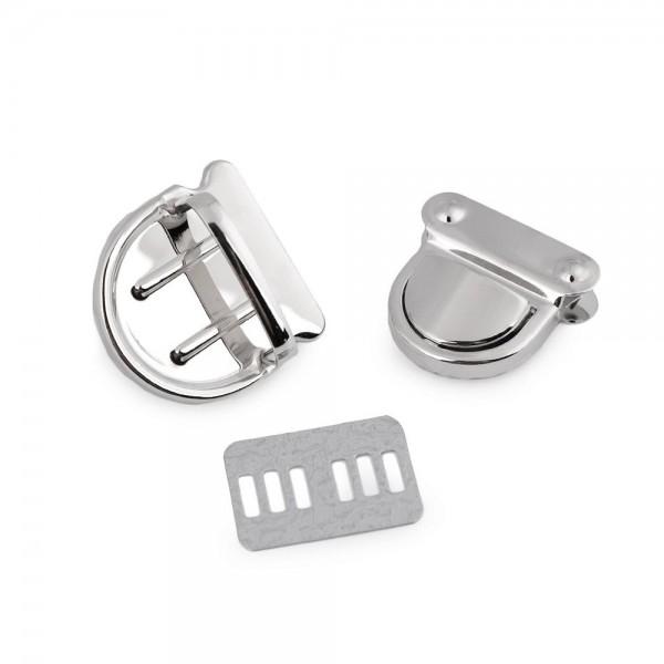 Stiklås/Taskelås sølv (30 x 31 mm)